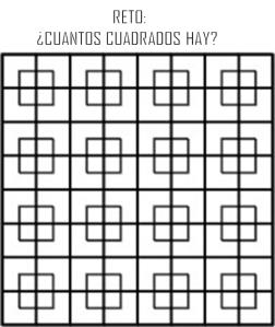 cuantos cuadrados ves