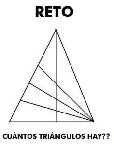 cuántos triángulos ves?